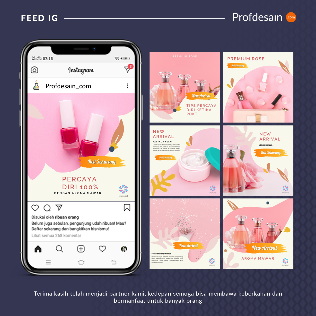 jasa desain feed instagram fashion n beauty 0