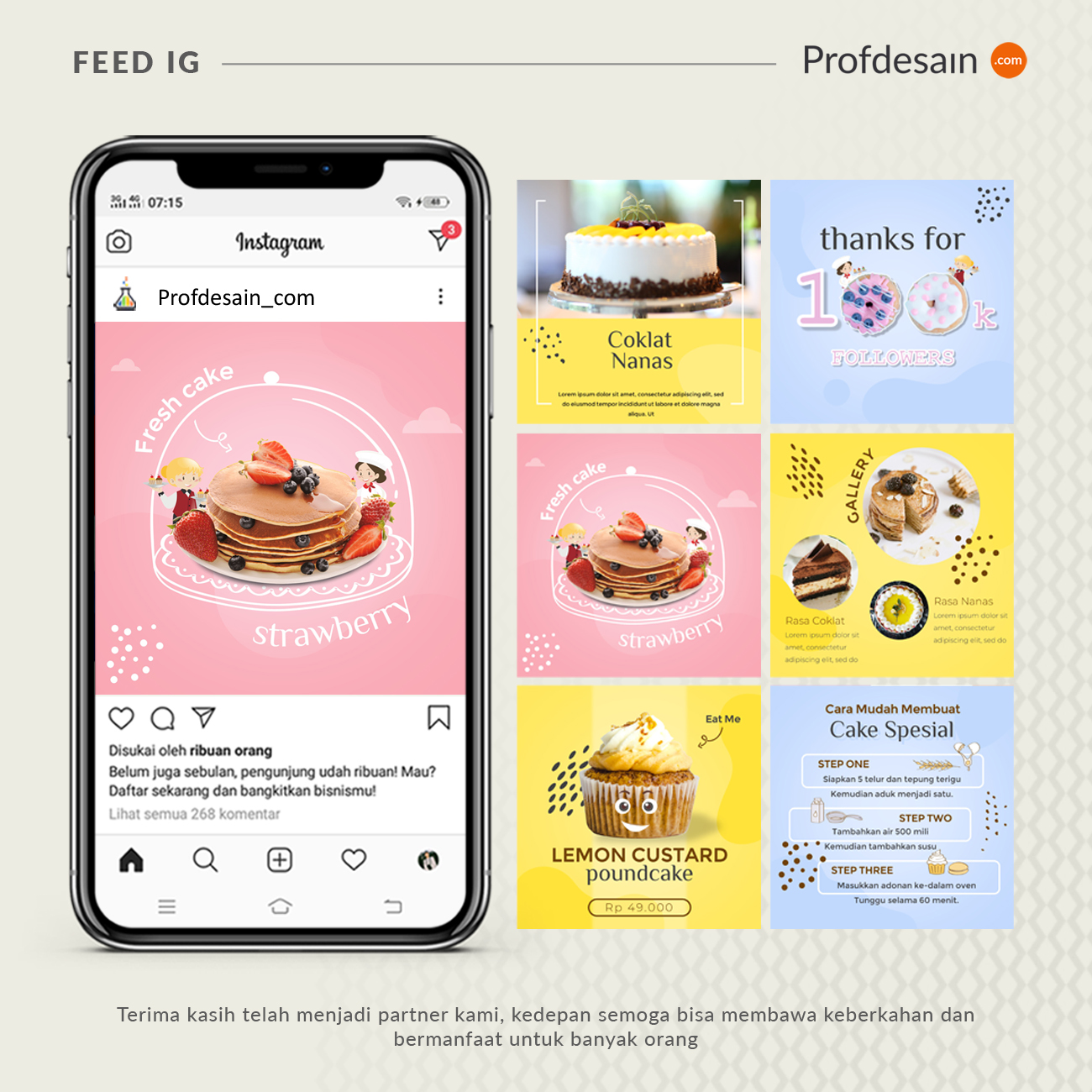 jasa desain feed instagram food and beverage 2