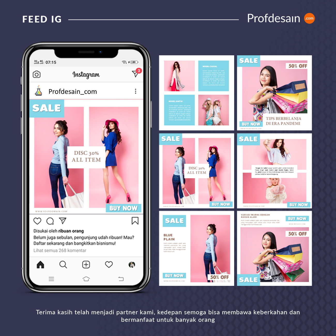 jasa desain feed instagram fashion n beauty 2